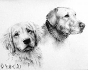 Pet Portrait: Annie and Duke